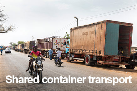 Transport - delte containere